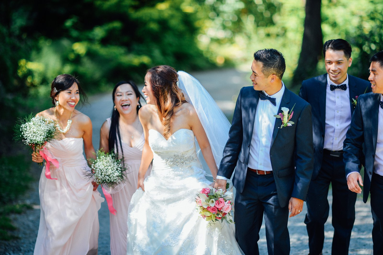 Vietnamese Wedding. Vietnamese Bride And Bridesmaids. Vietnamese ...